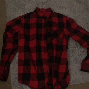 Red and black men's flannel